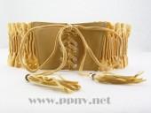 韩版镂空花边流苏系带装饰背扣弹力腰带腰封(多色)