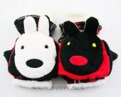 韩版优质棉绒卡通咪兔造型翻盖手套