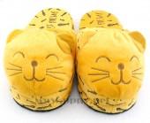 冬季卡通毛绒公仔笑脸猫棉拖鞋半包保暖鞋