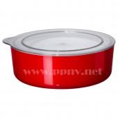 利雅思 附盖罐(1.8公升,红色)【宜家代购】