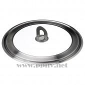 斯塔比尔 透明玻璃不锈钢锅盖(直径34厘米)【宜家代购】