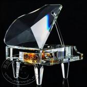 迷你白水晶钢琴音乐盒