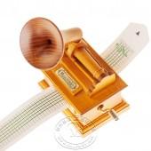 木制手摇纸带留声机音乐盒
