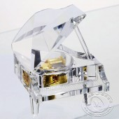 经典白水晶钢琴音乐盒