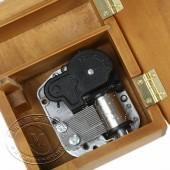 木制仿真三角钢琴音乐盒(实木本色)