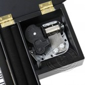 木制仿真三角钢琴音乐盒(黑色)