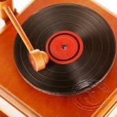 木制仿真留声机音乐盒