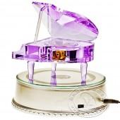 紫水晶钢琴音乐盒(带亮灯旋转底座)