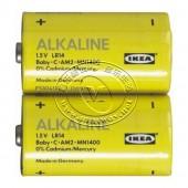 艾卡利斯 碱性电池(2号,2节)【宜家代购】
