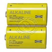艾卡利斯 碱性电池(1号,2节)【宜家代购】