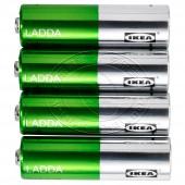 拉达 充电电池(5号,4节)【宜家代购】