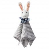 雷卡 方巾带毛绒玩具 兔子【宜家代购】
