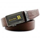 BALMA 巴玛 双面轧花水波纹男士真皮自动扣皮带